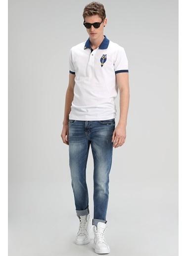Lufian Palm Spor Polo T- Shirt  Beyaz